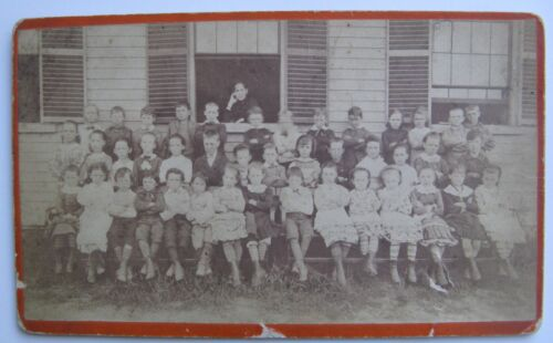 Arlington, Ma. 1880's Cabinet Photograph Locke School Class - Nelly Purcell, etc