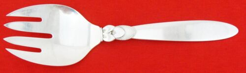 """CACTUS by GEORG JENSEN   MEAT FORK, 4 Tines, 8 3/4"""", No Mono"""