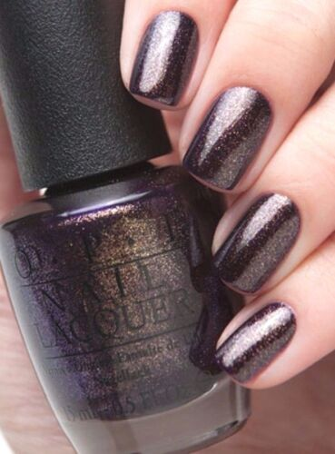 New OPI Gwen *FIRST CLASS DESIRES* Gold Purple Shimmer Nail Polish Lacquer HRF11