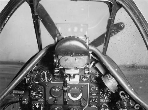 WWII B&W Photo US P-51 Mustang Cockpit North American Aviation USAAC WW2 /5066United States - 156437