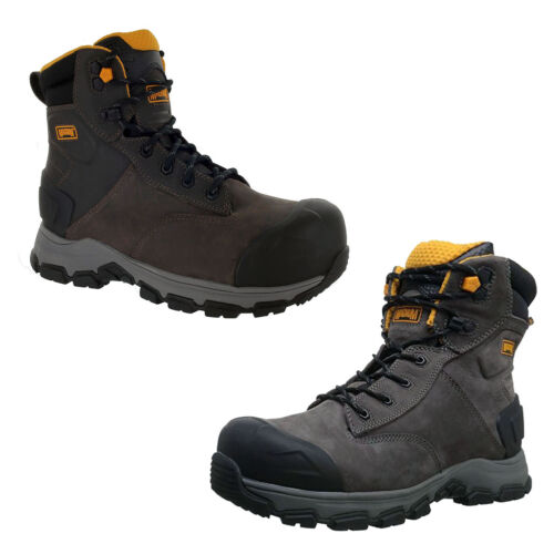 """Magnum Mens Baltimore 6"""" Coffee Waterproof Composite Toe Utility Boots 5560"""