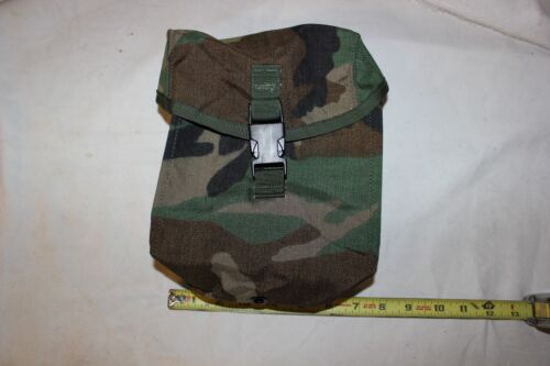 Woodland Grenade Pouch Pocket Style 4130 Camouflage Detachable