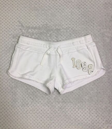 CUTE WHITE LOUNGEWEAR SHORTS BY ABERCROMBIE & FITCH UK SIZE SMALL