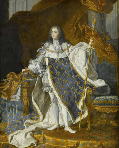 Huge oil painting Portrait of Louis XV in His Coronation Robes Hand painted