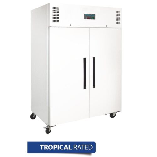 COMMERCIAL TROPICALISED POLAR 2 DOOR TWO DOORS UPRIGHT FREEZER 1200L WHITE
