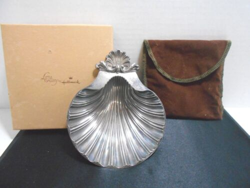 Vintage Silver Plated Shell Dish Footed Sheffield England Reproduction 1700-1800