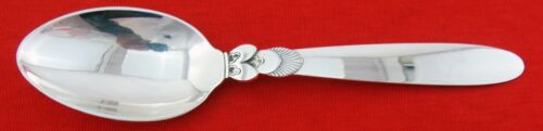 CACTUS by GEORG JENSEN STERLING SILVER DESSERT OR OVAL SOUP SPOON