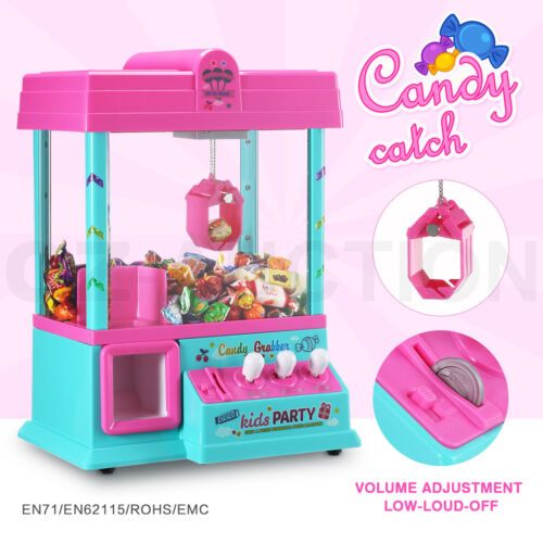 Mini Toy Claw Machine Arcade Game Candy Catch Grabber with LED Lights & Music