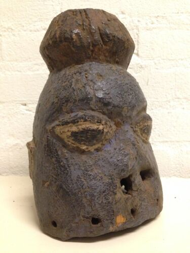 Nigeria: Extremly Rare and Tribal used Mende Head mask more then 100 years Old.