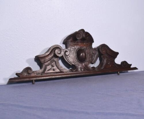 "*32"" French Antique Pediment/Crest in Oak Wood Salvage"