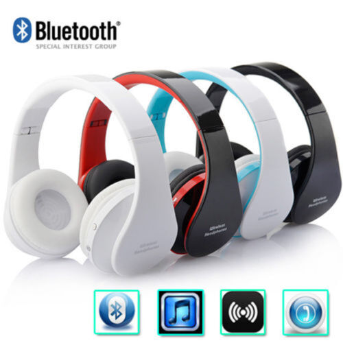 Wireless Bluetooth Stereo Headsets Foldable Headphones Mic for iPhone Samsung US