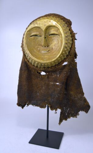 A Very Rare Kwese Brass Dance mask, African Tribal Art.