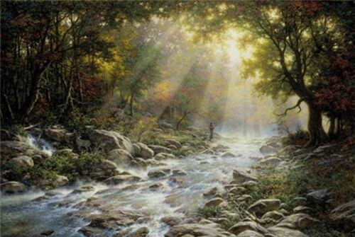 River of Light by Larry Dyke Landscape Open Edition Print