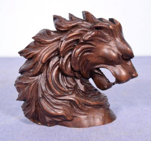 *French Antique Hand Carved Walnut Wood Lion's Head Salvage Trim
