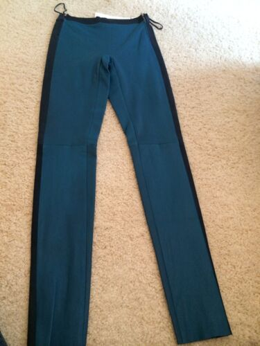 LES CHIFFONIERS Two Tone Leather Leggings Trousers FABULOUS and THE BEST!