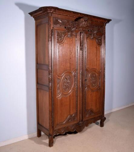 Early 1800's French Antique Normandy Wedding Armoire/Wardrobe