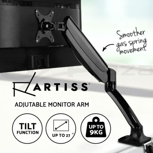 Artiss Monitor Stand Arm Single Gas Desk Mount 1 Display Screen HD LED TV Holder