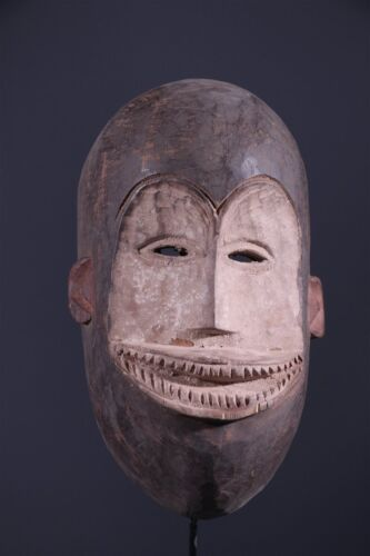 Congo: Tribal used African mask from the Lega.
