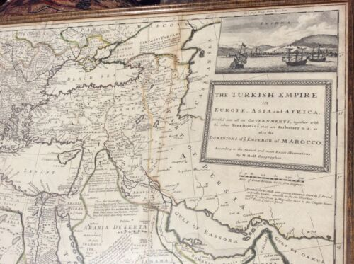 MAP OF THE TURKISH EMPIRE IN EUROPE, ASIA AND AFRICA BY HERMAN MOLL