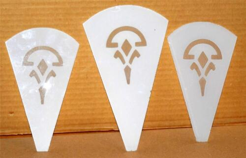 Vtg 1920's 1930's Art Deco Glass Panel Wall Sconce Replacement Glass Slip Shade