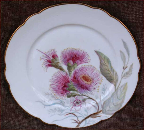 Early 19th C French Paris Porcelain Botanical Plate 1830 b