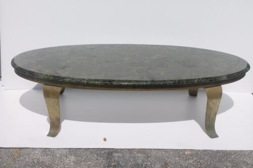"""MID CENTURY MODERN """"MULLER"""" DESIGNER COFFEE TABLE AND END TABLE/ CULTURED MARBLE"""