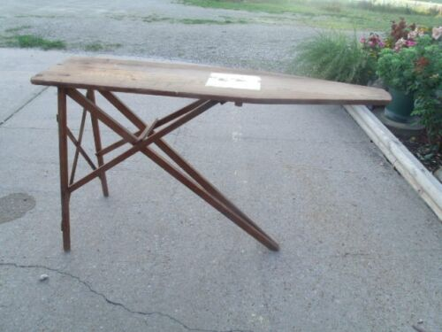 J. R. Vintage Primitive Old  J R Clark  Used Folding Wood Ironing Board