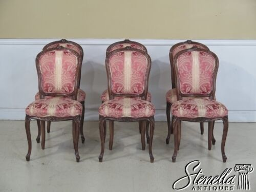 L29173: SMITH & WATSON Set Of 6 French Louis XV Style Upholstered Dining Chairs