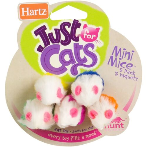 Hartz Just for Cats Mini Mice Cat Toy 5 pack