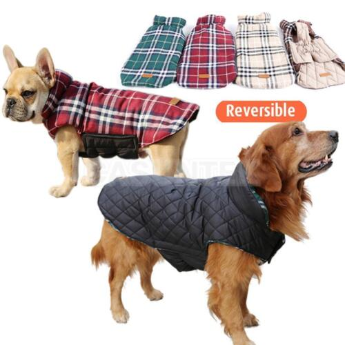 Reversible SMALL To EXTRA LARGE Dog Waterproof 2 in 1 Coat Jacket Clothes #1 US