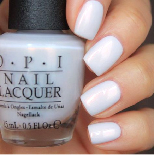 OPI Alice OH MY MAJESTY! White Alabaster Pearl French Nail Polish Lacquer BA2 >>