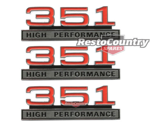 2x GUARD BADGES Chrome BRAND NEW for Ford Falcon GT XW XY 351 HIGH PERFORMANCE
