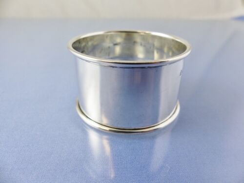 PLAIN ROLLED RIM STERLING NAPKIN RING BY H Bros BIRMINGHAM 1948