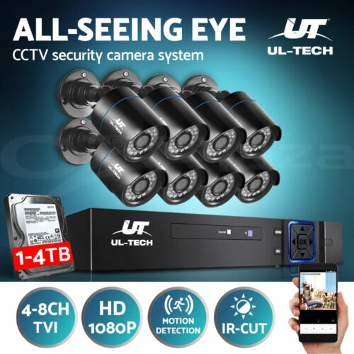 UL-tech CCTV Security Camera System Home DVR Outdoor Day Night Long Range 1080P