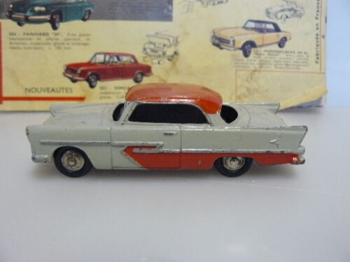 DINKY TOYS  ANCIEN  VOITURE PLYMOUTH BELVEDERE GRISE TOIT ROUGE  référence 24 D