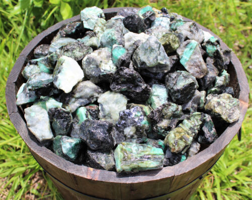 500 Carat Lot Raw Unsearched Natural Emerald Minerals (rough Gemstone 100 Grams)