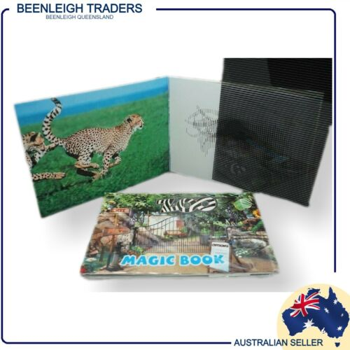 Children's - ZOO ANIMALS MAGIC MOVING PICTURE BOOKLET - Brand New