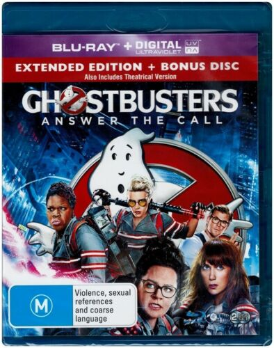 GHOSTBUSTERS: Extended Edition (2016) Blu-ray 2 Disc Set - Region Free [B][A][C]