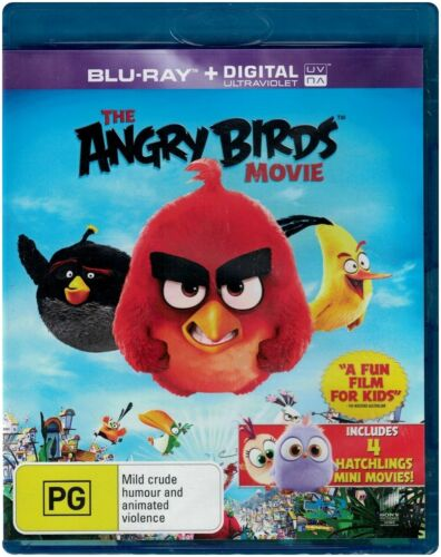 """THE ANGRY BIRDS MOVIE"" Blu-ray + Digital UV - Region Free [B][A][C] BRAND NEW"