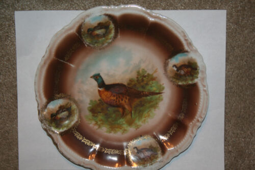 """Antique Oyster 9"""" Plate  By The Porcelain Moschendorf Factory, Bavaria, Germany"""