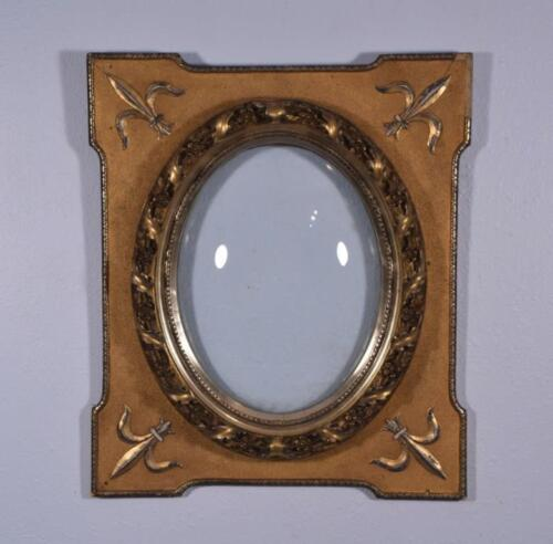 *Antique Gilt Frame with Oval Convex Glass