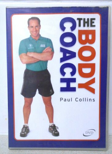 THE BODY COACH - PAUL COLLINS - STEP BY STEP GUIDE TO FITNESS DVD -VGC  R4 Aust.