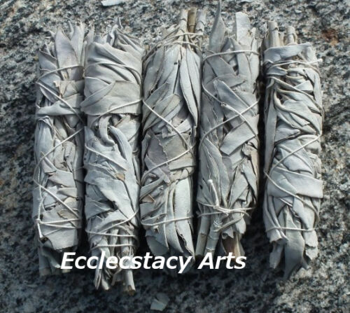 """5 x White Sage Smudge Stick / Wands: House Cleansing Negativity Removal 4 to 5 """""""