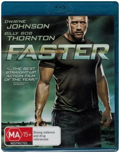 """FASTER"" Blu-ray - Region Free [B][A][C] NEW - CLEARANCE -"