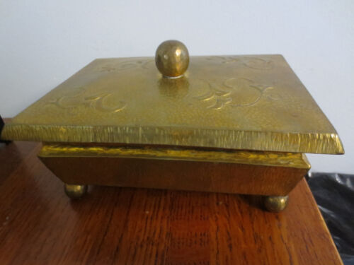 GORGEOUS 1930'S HAND CRAFTED BRASS BOX HAND ARBEIT BY A. LANGMACK
