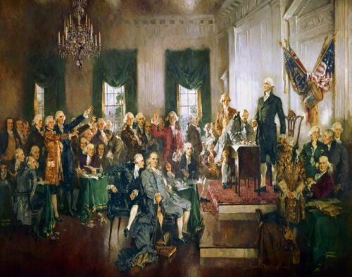 Howard Chandler Christy  Scene At The Sigining Of The Constitution Print   #3702
