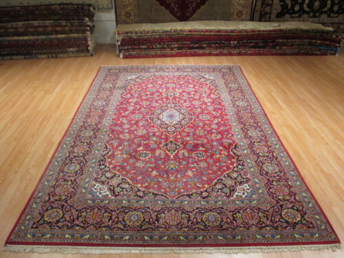 7x11 CA 1960 AMAZING MUSEUM INTRICATE HANDMADE-KNOTTED WOOL RUG 582261