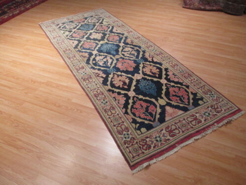 4'x10' ESTATE Circa 1940 Wide Runner Farahan Hand-Knotted Rug Wool 580343