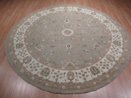 """8' FEET Round 8x8 AMAZING """"Light Color Palette"""" Handmade-knotted Wool Rug 582904"""