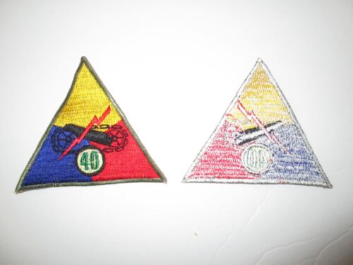 e0133 Korean War US Army Armored Tank Battalion Triangle patch 40th  R8EReproductions - 156441